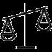 Icon einer ungleichgewichtigen Waage