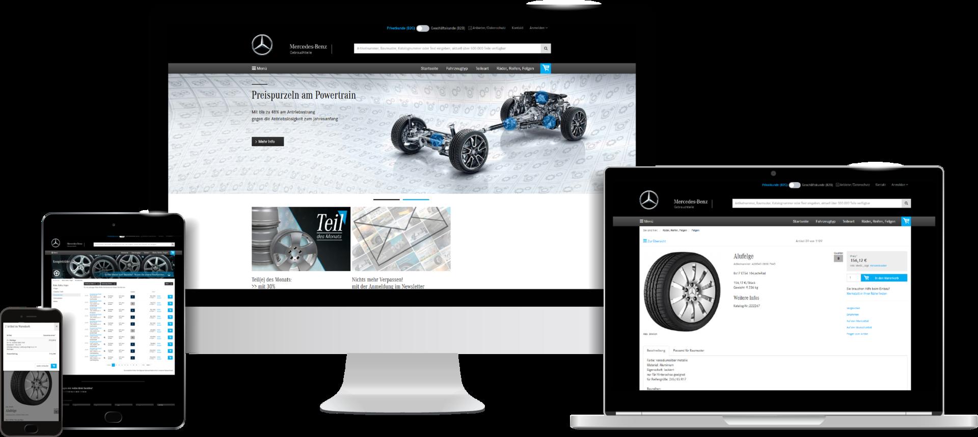 mercedes benz gebrauchtteile center onlineshop