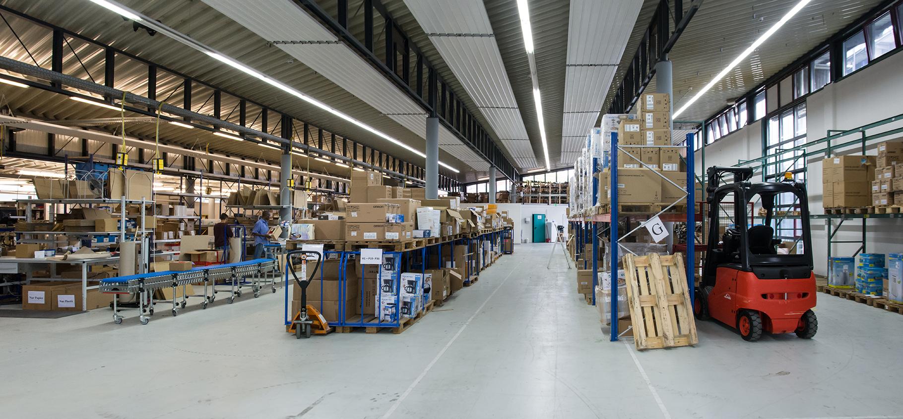 Zusätzliche Sicherheitsmaßnahmen im EOD-Lager. Der Warennachschub ist gesichert.