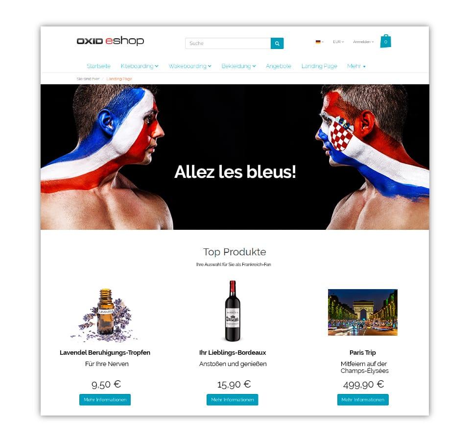 Mit dem OXID eShop lassen sich personalisierte Angebote auf Grundlage des Standorts des Nutzers anzeigen.